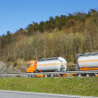 Fuel truck on the go — Stock Photo