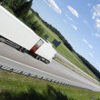 Trucking on freeway - Stock Photo