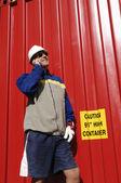 Ingeniero, trabajador y metal — Foto de Stock