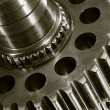 Gears and oil lubricant - Stock Photo
