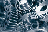 Titanium and steel gears machinery — Stock Photo