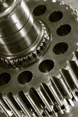 Gears and oil lubricant — Stock Photo