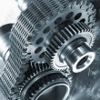 Stock Photo: Aerospace gears and timing chain