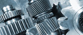 Aerospace gears of finest titanium — Foto Stock