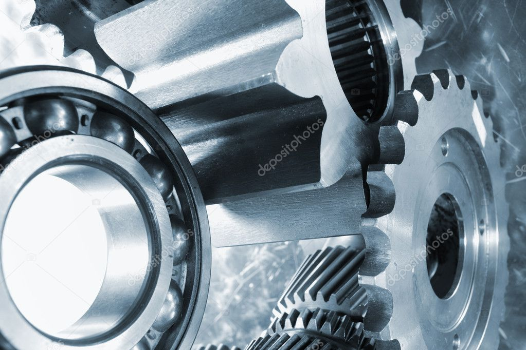 Close up view of gears — Stock Photo #8558530