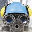 Hardhat and industrial concept — Stockfoto