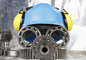 Hardhat and industrial concept — Stock Photo