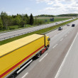 Stock Photo: Truck transport on freeway