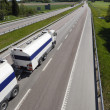 Stock Photo: Fuel truck on highway