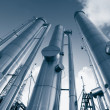 Oil and gas pipes — Stock Photo