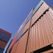 Cargo containers in wide angle — Stock Photo