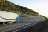 Truck transport on freeway — Stock Photo