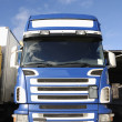 Giant truck, frontal view — Stock Photo