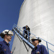 Oil, fuel and gas storage tanks — Stock Photo