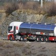Fuel truck, tanker on move — Stock Photo #9951660