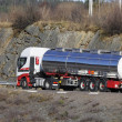 Fuel truck, tanker on the move — Stock Photo