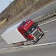 Truck transport on freeway — Stockfoto