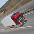 Truck transport on freeway — Stock Photo #9951904