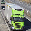 Truck transport on freeway — Stock Photo