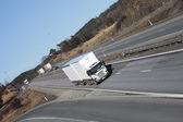 Large white trucking transport — Stock Photo