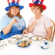 Stock Photo of Angry Tea Party Voters — Stock Photo