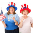 Stock Photo of Enthusiastic American Voters — Stock Photo