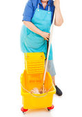 Mopping Up — Stock Photo