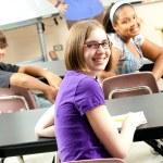 Stock Photo of Happy School Students — Stock Photo #10357913