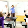 Stock Photo of Teaching Algebra Class — Lizenzfreies Foto