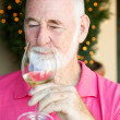 Stock Photo of Wine Tasting - Senior Man - Stock Photo