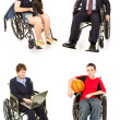 Stock Photo of Disabled - Multiple Views - Stock Photo