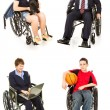 Stock Photo of Disabled - Multiple Views — Stock Photo