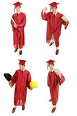 Stock Photo of Graduate - Multiple Views — Stock Photo
