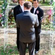 Gay Marriage In the Garden - Stockfoto