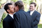 Gay Marriage - Kiss the Groom — Stock Photo