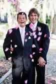 Eşcinsel evlilik - yaprakları duş — Stok fotoğraf