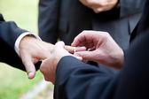 -bu yüzüğü ile eşcinsel evlilik — Stok fotoğraf