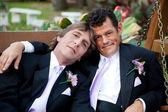 Yakışıklı gay evlilik çift — Stok fotoğraf