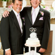 Gay Marriage - Wedding Reception — Stock Photo