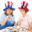 Tea Party Voters - Upset — Stock Photo