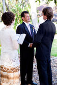 Gay Marriage - Saying Vows — Stock Photo