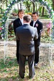Gay Marriage In the Garden — Stock Photo