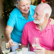 Senior Couple Dining Out — Stock Photo
