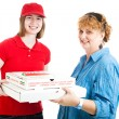 Stock Photo: Fresh Hot Pizza Delivered