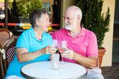Seniors on Romantic Date — Stock Photo