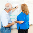 Adult Education - Teaching Math — Stock Photo