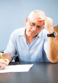 Middle Aged Student - Frustrated — Stock Photo
