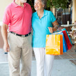 Happy Senior Shoppers — Stock Photo