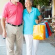 Happy Senior Shoppers — Stock Photo #8695231