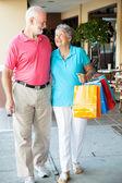 Happy Senior Shoppers — Stock Photo
